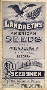 1896 Landreth's Seed Catalog Cover