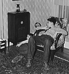 Schulstadt Boys Listening to the Radio, Aberdeen, South Dakota