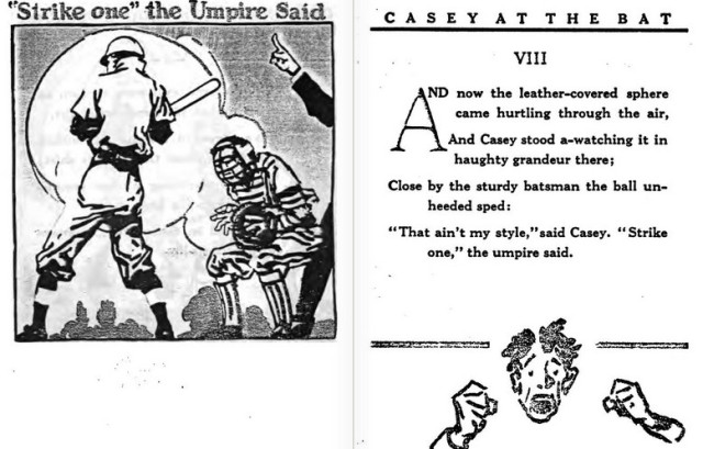Page from 1912 book, Casey at the Bat
